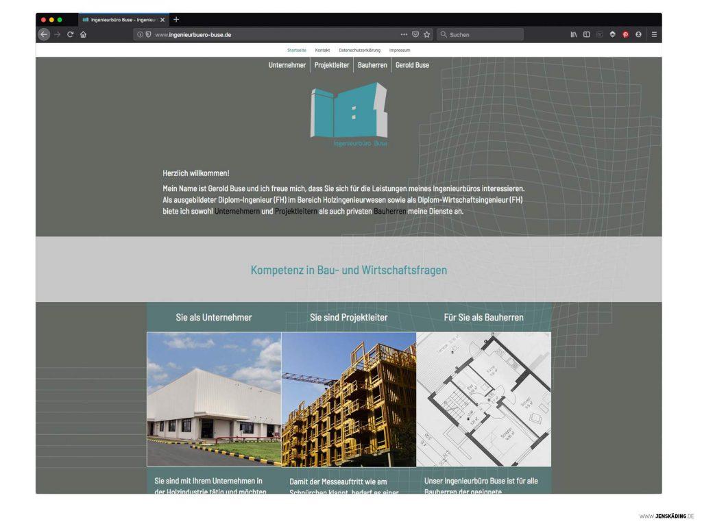 Ingenieurbüro Buse Internetseite